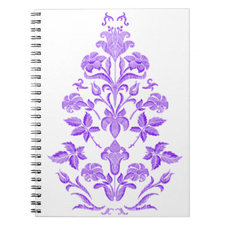 Flowers embroidery notebook
