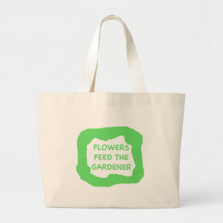 Flowers feed the gardener .png canvas bag
