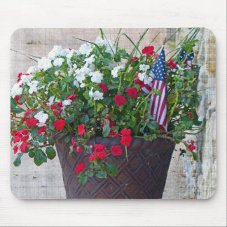 Flowers & Flags Mouse Pad