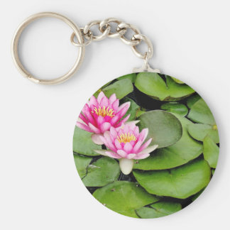Flowers Floral Garden Blossoms Photography Basic Round Button Keychain