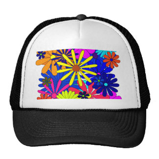 Flowers Floral Pattern Colorful Trucker Hat