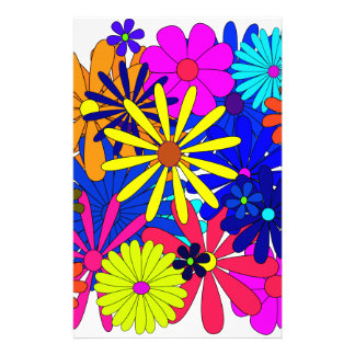 Flowers Floral Pattern Colorful Stationery Design