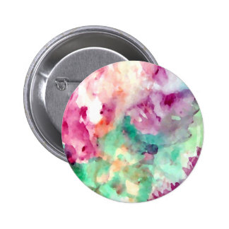 Flowers Floral Watercolor Pretty Mom Gifts 2 Inch Round Button