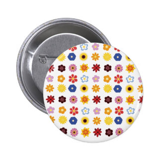 flowers,flowers and more flowers! 2 inch round button