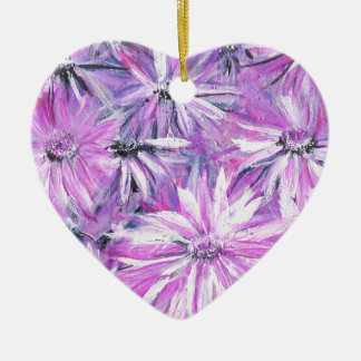 Flowers & Flowers Ceramic Heart Ornament
