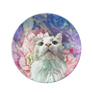 """Flowers & Flutterbys 8.5"""" Porcelain Dish"""