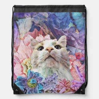 Flowers & Flutterbys Drawstring Backpack