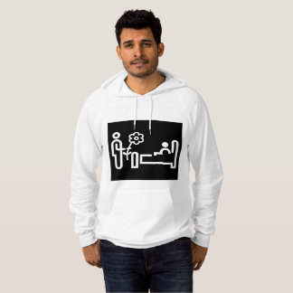 Flowers For A Patient Mens Hoodie