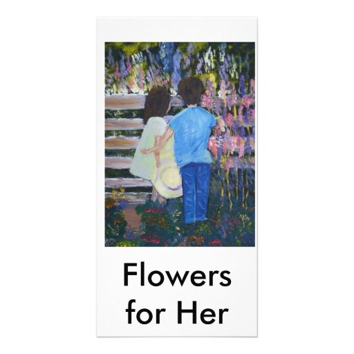 Flowers for Her(1), Flowers for Her Customized Photo Card