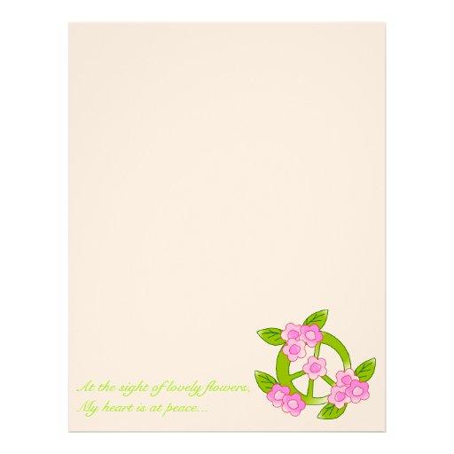 flowers for peace letterhead design