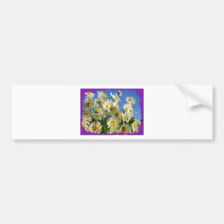 FLOWERS FRAME PRODUCTS BUMPER STICKERS