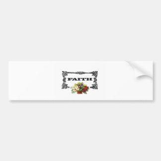 flowers framed in faith bumper sticker
