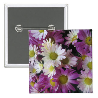 Flowers from Butterfly Garden LasVegas USA America 2 Inch Square Button