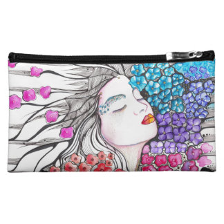 Flowers from my Eden Girl Portrait Cosmetic Bags