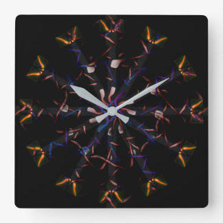 Flowers from Venus Square Wall Clock