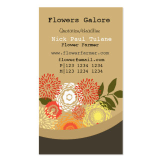 Flowers Galore  Custom Floral Business Cards