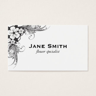 Flowers & Growth Business Card