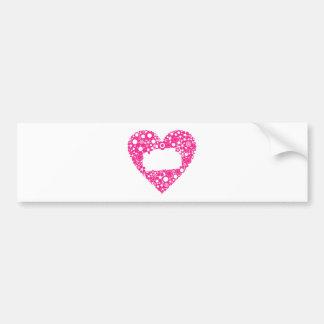 Flowers heart bumper sticker