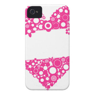 Flowers heart iPhone 4 cover