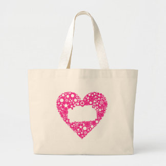 Flowers heart large tote bag