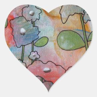 Flowers Heart Sticker