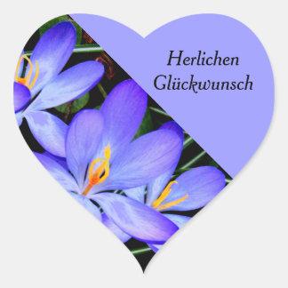 Flowers Heart Stickers