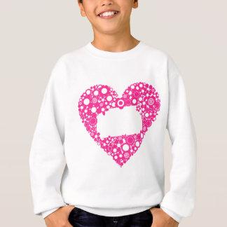 Flowers heart sweatshirt