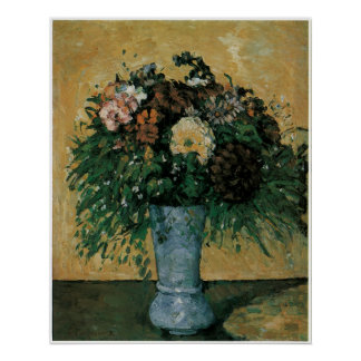 Flowers in a Blue Vase, c.1873-75 Poster