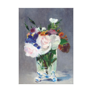 Flowers in a Crystal Vase Edouard Manet Fine Art Canvas Print