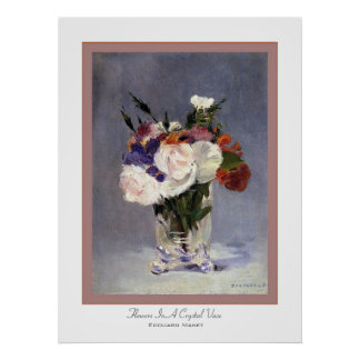 Flowers In A Crystal Vase ~ Edouard Manet Poster
