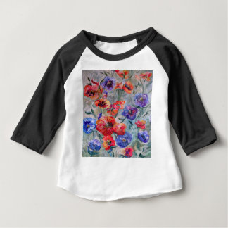 Flowers in a Field of Green Baby T-Shirt