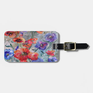 Flowers in a Field of Green Luggage Tag