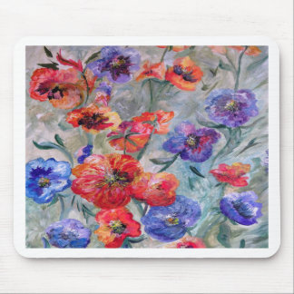 Flowers in a Field of Green Mouse Pad