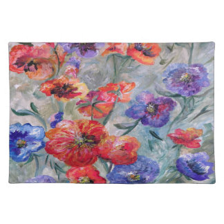 Flowers in a Field of Green Placemat