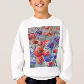 Flowers in a Field of Green Sweatshirt