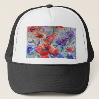 Flowers in a Field of Green Trucker Hat