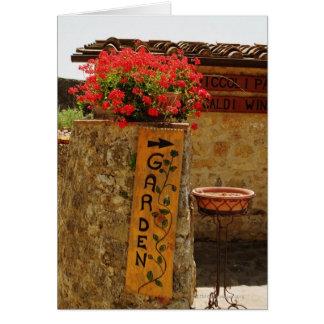 Flowers in a garden, Monteriggioni, Siena Card
