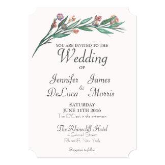 Flowers in a garden Wedding invitation