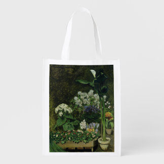 Flowers in a Greenhouse, 1864 Reusable Grocery Bags