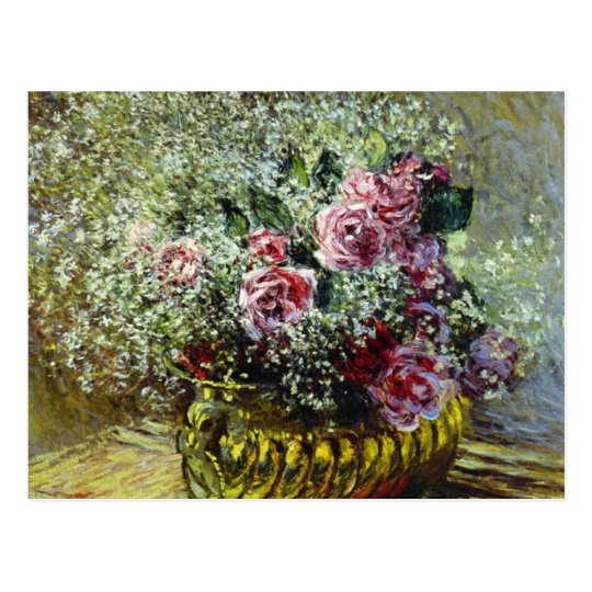 Flowers in a Pot - Claude Monet Postcard
