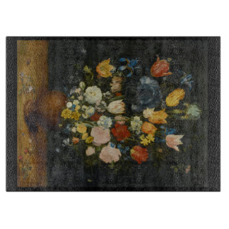 Flowers in a Stoneware Vase Carving Board