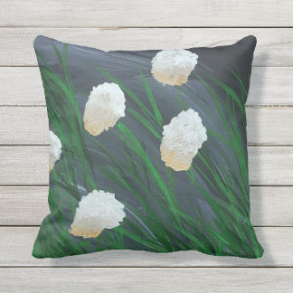 Flowers in a Storm Outdoor Pillow