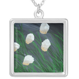 Flowers in a Storm Silver Plated Necklace