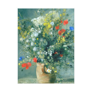 Flowers in a Vase Auguste Renoir Fine Art Canvas Print