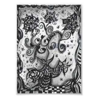 Flowers in a Vase Inspired Art Print