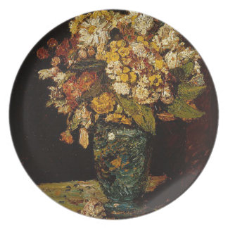 Flowers in a Vase Plate