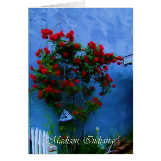 Flowers in Bloom in Madison, Indiana Card