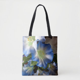 Flowers in Blue Floral Tote Bag Gift for Her
