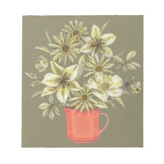 Flowers in Coffee Mug 1 Notepads