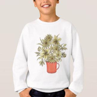 Flowers in Coffee Mug 1 Sweatshirt